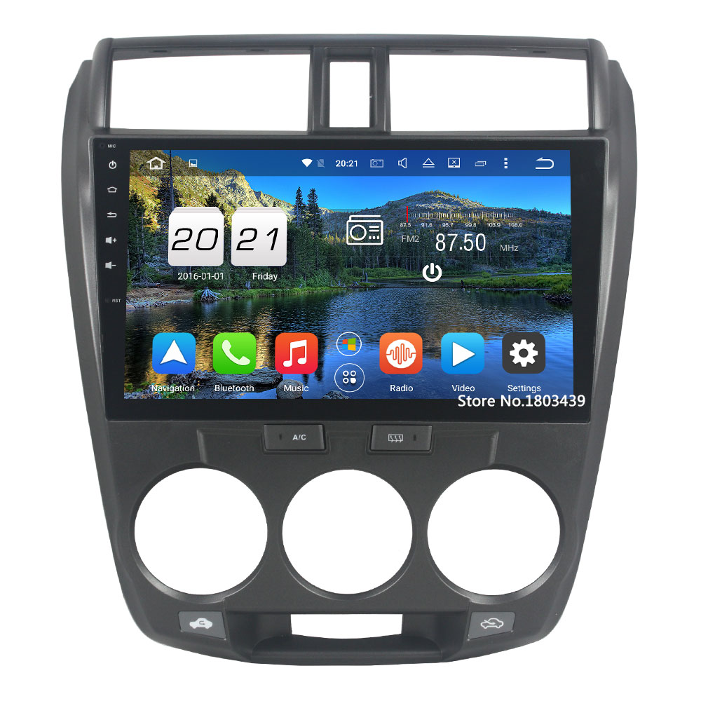 "2 DIN 10.1 ""2 ГБ Оперативная память Android 6.0.1 Octa 8 core Wi-Fi GPS BT AUX в штатную GPS зеркало Ссылка радио для Honda City 2006-2013"