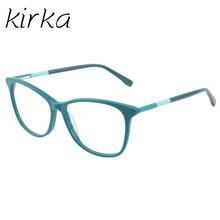 Kirka Óculos de Armação Das Mulheres Do Vintage Senhora Óculos de Armação Óculos de Lentes Claras Óculos De Armação de Prescrição Óculos de Leitura Óptica Da Cerceta