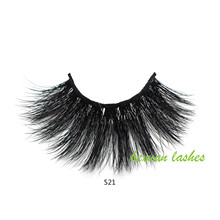 Hexuan 100% mink eyelashes extra length 25mm lashes 5D Big dramatic volumn Crisscross false eyelash