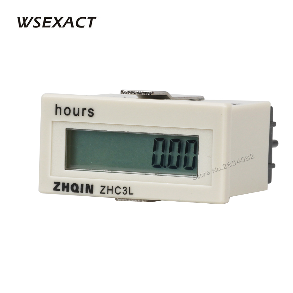 for Motor,Cart Boat Tractor Generator Engine Mower Resettable Rectangular LCD Hour Meter Digital Electrical Counter LCD Display Time Meter Gauge Counter AC220-240V Digital Hour meter