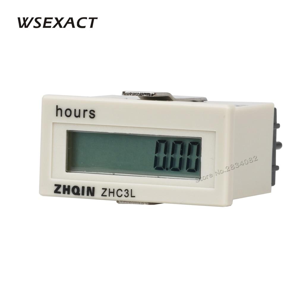100-220VAC 4-30VDC No Voltage Counter Hours Meter  8 Digit Digital Timers 9999h59m59s 999999h59m 48*24mm ZHC3L-8