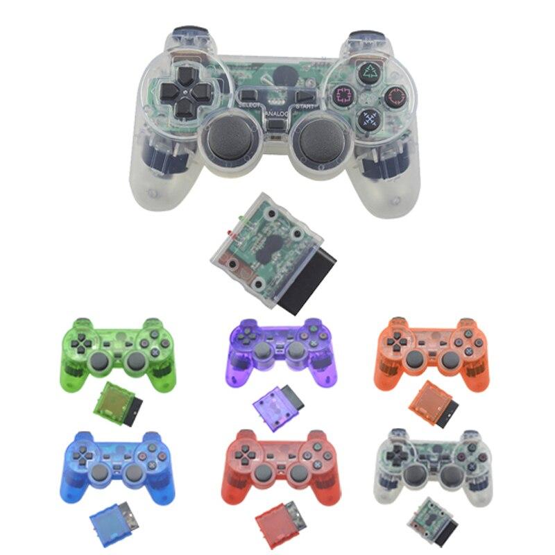 HobbyLane için PS2 kablosuz denetleyici Bluetooth Gamepad için Play Station 2 Joystick konsolu Dualshock 2 şeffaf d25