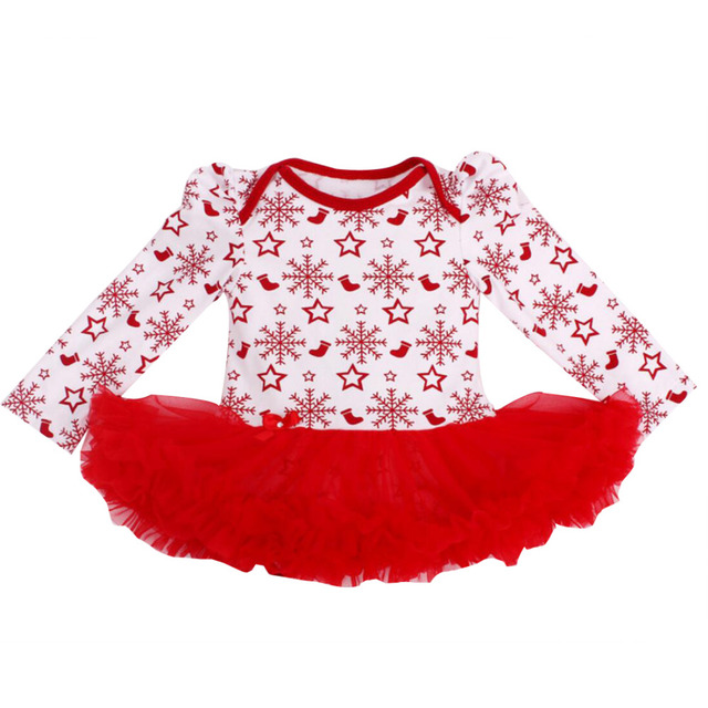 f87d6c96a Newborn Dress Baby Clothes Girls Christmas Rompers Ruffle Tutu ...