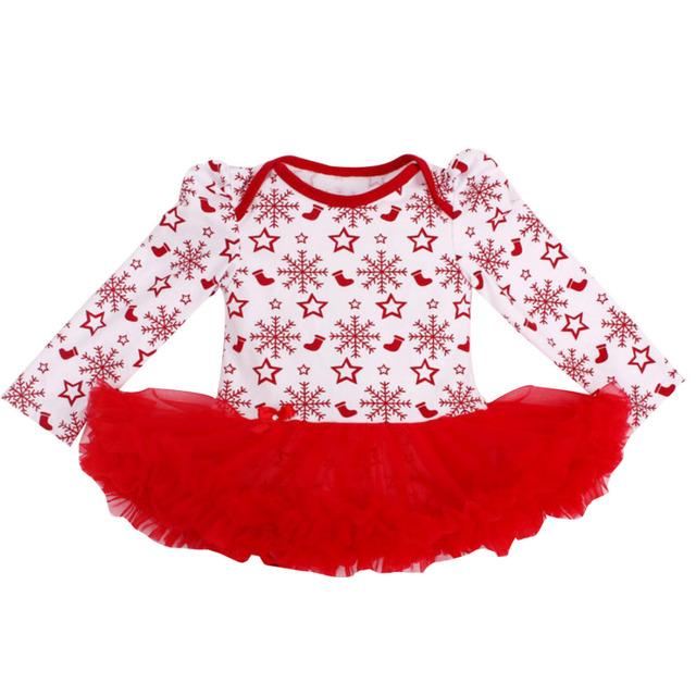 Vestido de Ropa de Bebé recién nacido Niñas Vestidos Del Tutú de La Colmena de Los Mamelucos de Navidad Copo de Nieve Primer Segundo Equipo de la Navidad para 0-24Months