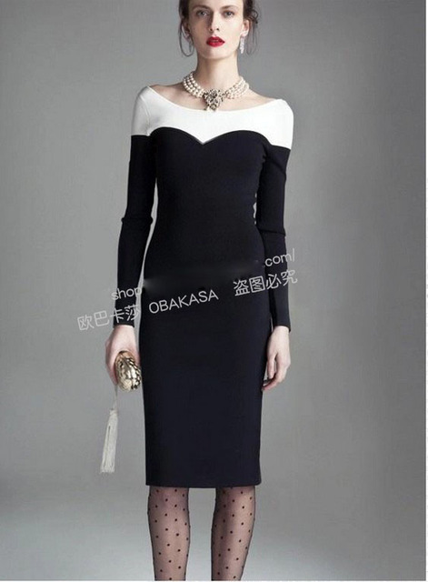 2015 Best selling dress office lady slim girls casual sleeve dress long  night club sexy lady 25c513181b06