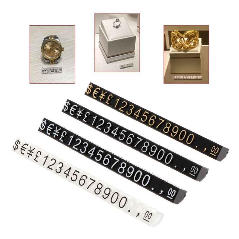 Ценник ювелирный магазин дисплей Пентагон пластик номер Регулируемый интимные аксессуары Стенд рамки комбинированный цифровой одежда