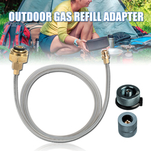 цена на Outdoor Camping gas Stove Refill Adapter propane tank refill adapter LPG Flat Cylinder Coupler Picnic Gas Conversion Head Set