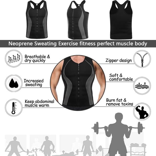 Men Neoprene Shapers Body Shaper Promote Sweat Waist Trainer Tummy Slimming Shapewear Male Modeling Belt Losing weight Vest 3