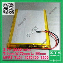 4070100 three.7V 3500mah Lithium polymer Battery with Safety Board For PDA Pill PCs Digital Merchandise Free Transport