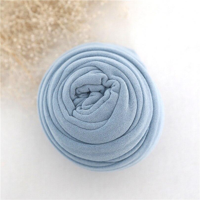 Blue Baby Photography Blanket Newborn Swaddle Sack Knit Stretch Wrap Textured Blanket Stretch Knit Layer Newborn Photo Props