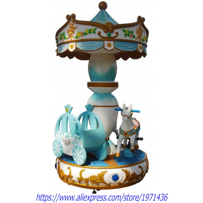 3 Kids Rotation Carousels Horse Kiddie Rides Amusement Equipment Swing Game Machine