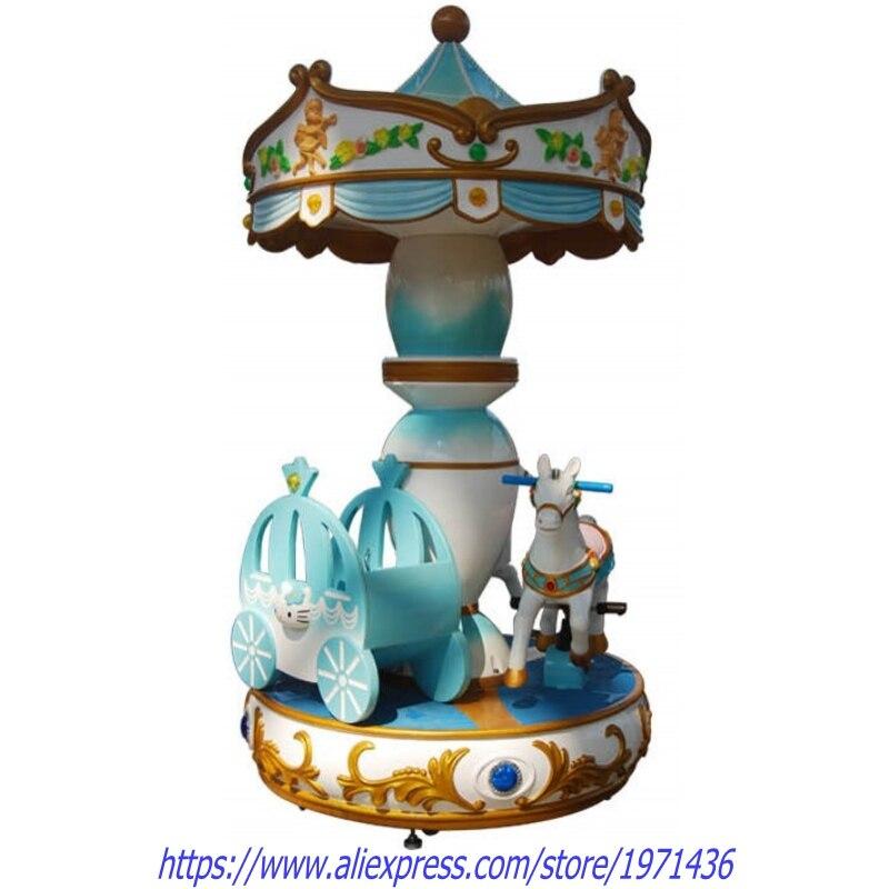 3 enfants Rotation carrousels cheval Kiddie manèges équipement d'amusement balançoire Machine de jeu