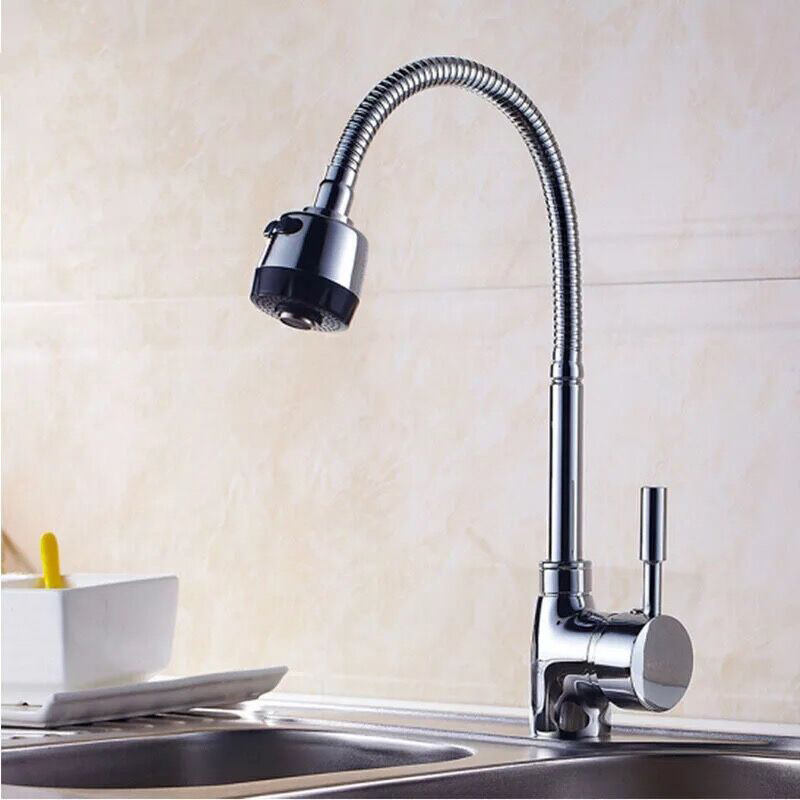 SHAI Solid Zinc Alloy Kitchen Mixer Cold And Hot Kitchen Tap Single Hole Water Tap Kitchen Faucet Torneira Cozinha