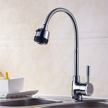 цена на SHAI Solid Zinc Alloy Kitchen Mixer Cold and Hot Kitchen Tap Single Hole Water Tap Kitchen Faucet Torneira Cozinha