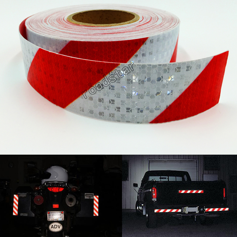 Купить с кэшбэком 5cmX 10m Car Motorcycle Reflective Tape Film Stickers Car Styling Bicycle Safety Warning Conspicuity Reflective adhesive tape
