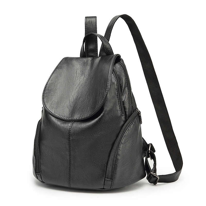 NEW 2019 Genuine Leather Women Backpacks vintage high quality ladies shoulder bags backpacks for teenage girls school bags C262
