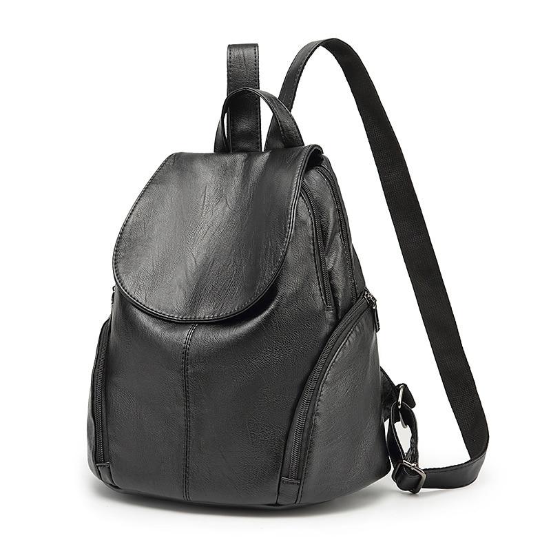 NEW 2017 Genuine Leather Women Backpacks vintage high qualit