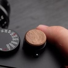 16mm Gỗ Gỗ Mềm Nút Bấm Chụp Cho Fuji Fujifilm X100F XE3 XT2 XT30 XT20 Fujifilm XT20 X T2