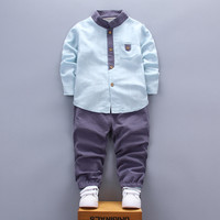 Spring Autumn Boy Clothing 2018 New Fashion Casual Children Baby Boy Clothing Baby Clothes Shirt Pant