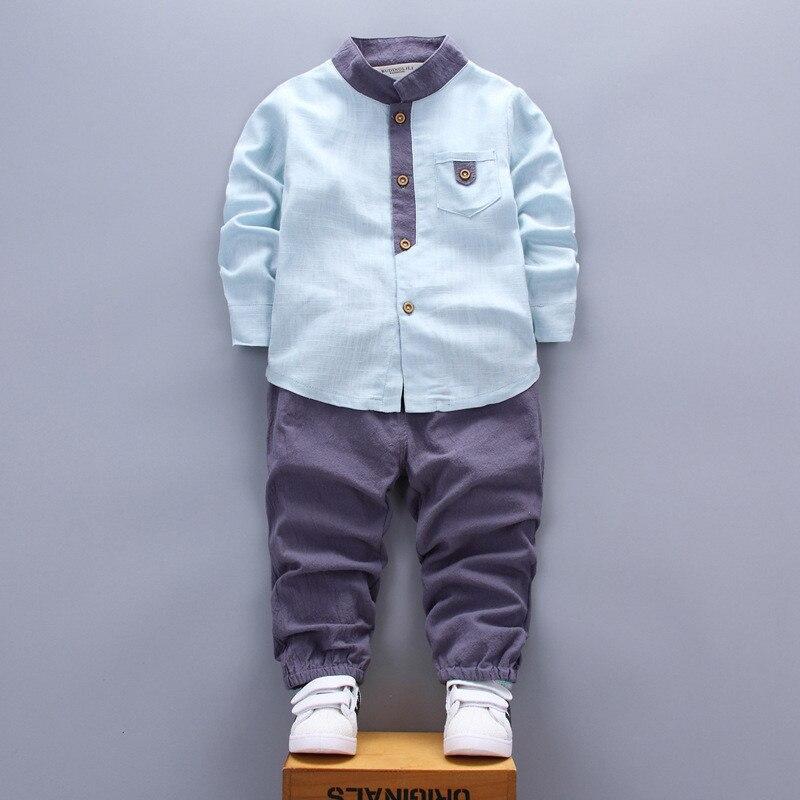 spring autumn boy clothing 2018 new fashion casual children baby boy clothing baby clothes shirt+pant 0-4 year boy clothing set