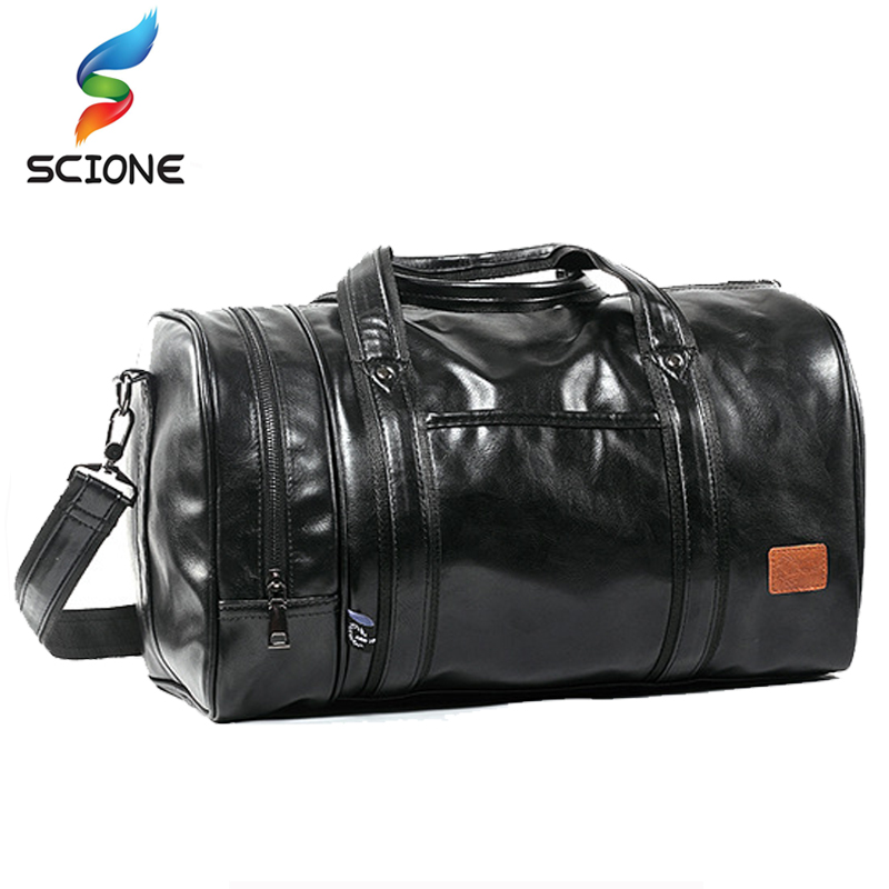 2018 Hot A++ Outdoor Large Capacity Multifunction Portable Travel Sports Gym Fitness Men's Sports Bag PU Leather Tote Duffel bag temena large capacity outdoor sports bag for men new brand pu tote duffel bag multifunction travel sports gym fitness bag ac12