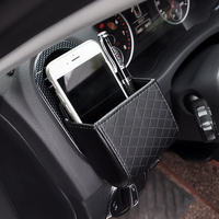 Micro fiber Skórzana torba do przechowywania rozmaitości organizator samochodu AC Outlet vent Auto Air Vent uchwyt Podstawka pod Telefon Etui okulary