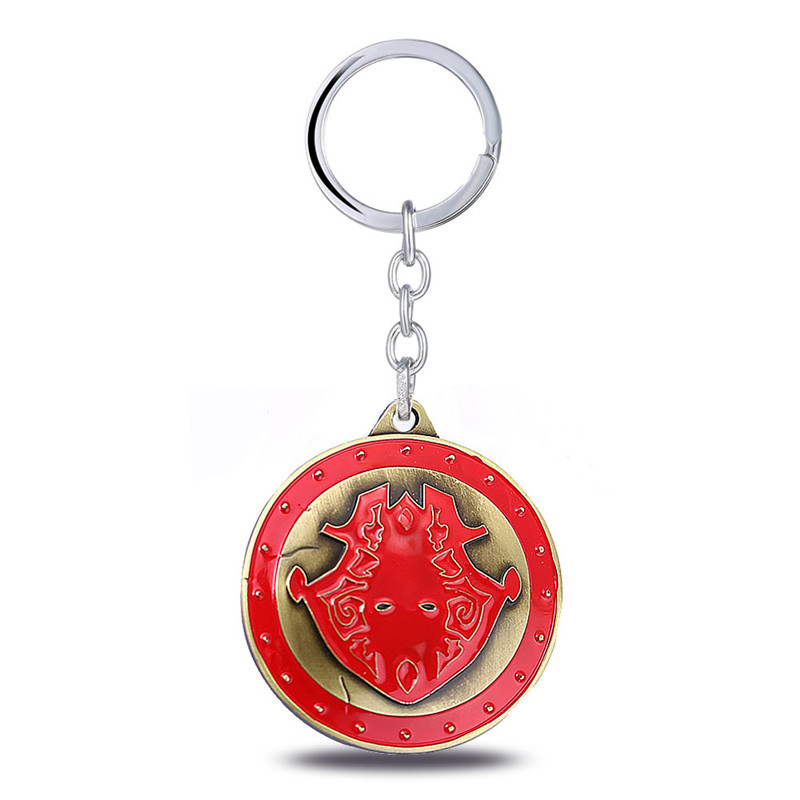 ORP Anime game peripheral product Jewelry Key Chain LOL King of War Penson Perseus Shield Keychain fine accessories