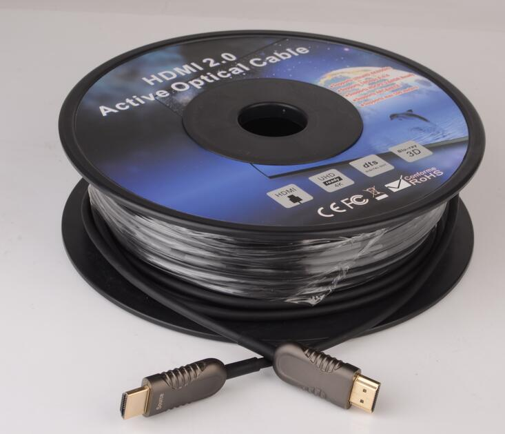 HDMI Fiber Cable 200m Leght High Speed Support 18.2Gbps 4K at 60Hz HDMI 2.0 Subsampling 4:4:4/4:2:2/4:2:0 Slim and Flexible 2 4