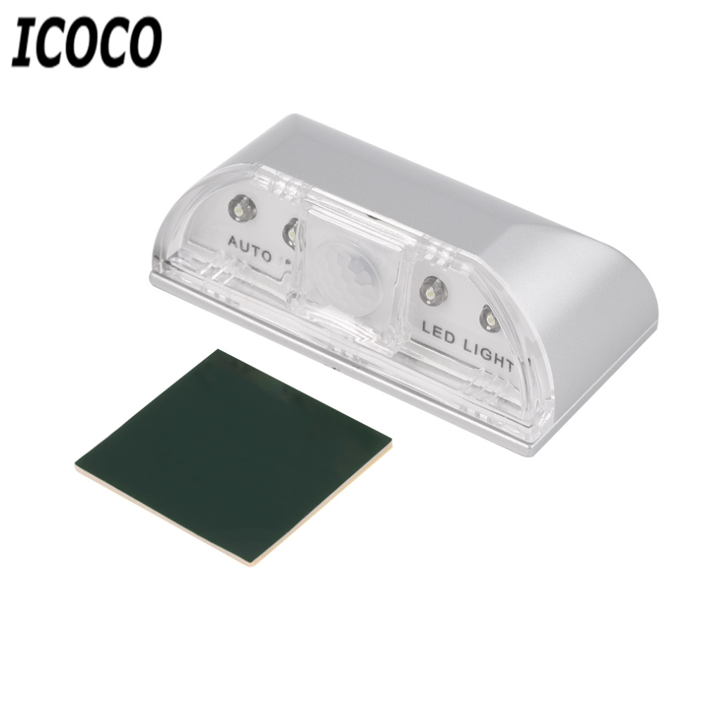 ICOCO 1pc 4 LED PIR Wireless Auto IR Infrared Sensor Motion Detector Key Hole Lamp Ambient