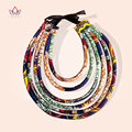 Accesorios africano para Las Mujeres Mujeres Del Estilo de Bohemia Collares Declaración Cadena Cuerda Collar Colgante Para Regalo WYA07