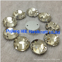8mm 10mm 12mm 14mm 16mm Round Sew On Rhinestones Clear Color Bling Crystal Flatback Sewing Buttons