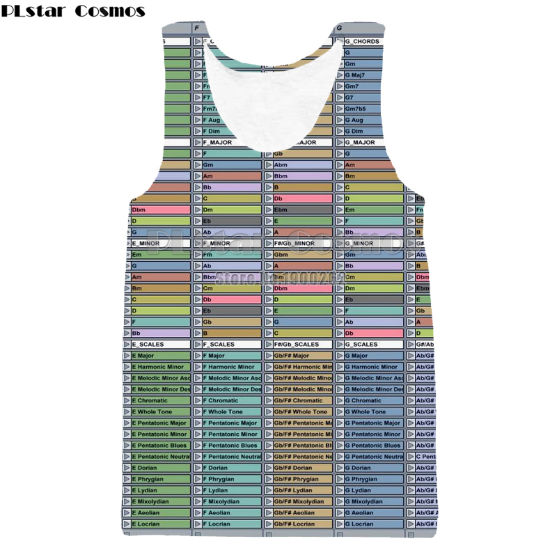 PLstar Cosmos Ableton live New Funny Tap Top New Stylet Vest O-Neck Vest Style Brand Popular Plus size S-5XL