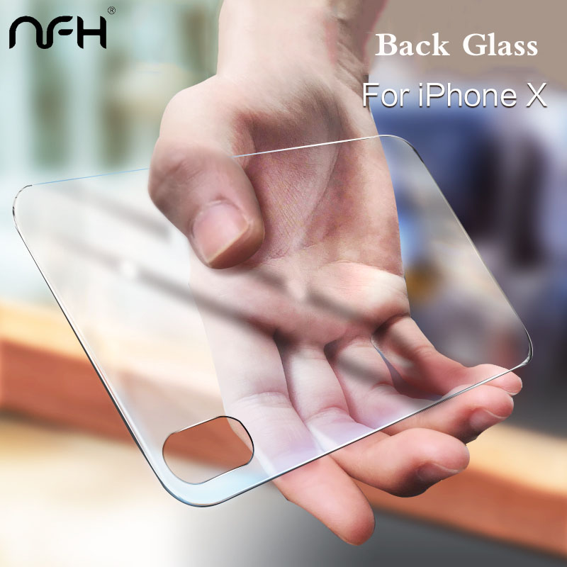 NFH Premium Back Tempered Glass For IPhone 11 Pro Max X XR 3D Film Cover Rear Toughened Screen Protector  For IPhone X Xs Max IPhone11 11Pro Glass Film