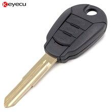 Keyecu BRAND NEW Replacement Shell Remote Key Case for Hyundai Kia 3 Button Car Key Case Key Cover Key Housing
