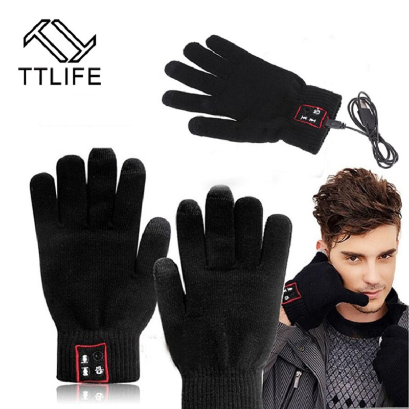 TTLIFE Free Shipping Bluetooth Gloves Touch Screen Mobile Headset Call and Talking Speaker Unisex For Phone and Pad Black Gray 2016 new calls recorder for mobile phone record phone call on time for any phone size free shipping