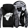 Hot movie Game of Thrones House Stark of Winterfall Sweatshirt Zipper Fleece Winter Hoodies Thicken Teen Fashion Jacket Coat