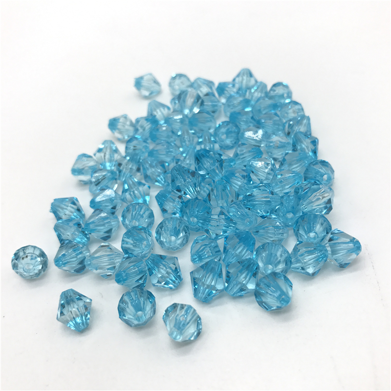 6mm 8mm 10mm Austria Faceted Bicone Crystal Acrylic Beads DIY Jewelry Making
