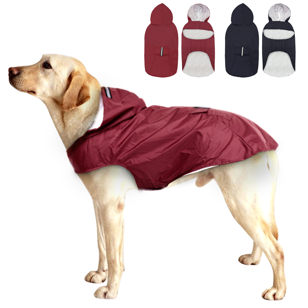 Ashui Pet Reflective Raincoat Waterproof Jacket Winter Thicken Warm Coat Pet Outfits Costume for Small Medium Large Dog