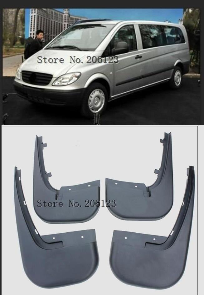 4Pcs Front Rear Car Mud Flaps For Benz Vito Viano W639 2006 2007 2008 2009 2010 Mudflaps Splash Guards Mudguards Accessories
