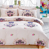 4s Bedding Sets Cute Floral Leaves Printed Jacquard Bedclothes For Kids Adult Bed Linens Duvet Cover