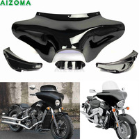 Motorcycle Front Outer Shades Batwing Fairing w/Windshield Cowling Mask For Hyosung Triumph Victory Harley Suzuki Yamaha V star
