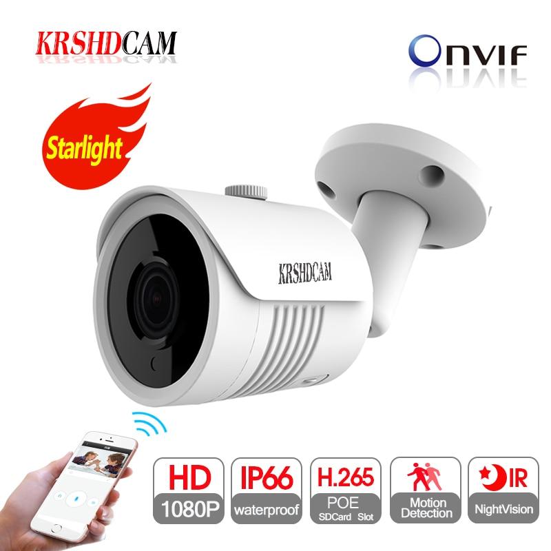 full HD 1080P POE ip camera onvif P2P SONY IMX307 Sensor font b outdoor b font