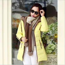Pop New Nice Europe fashion winter duck down jacket women's newest double zipper warm long parkas brand coat plus size S1362