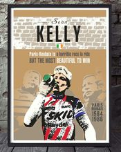 N2048 Sean Kelly Paris Roubaix Cycling Specially Created Wall Sticker Silk Fabric Poster Art Indoor Decor Bright