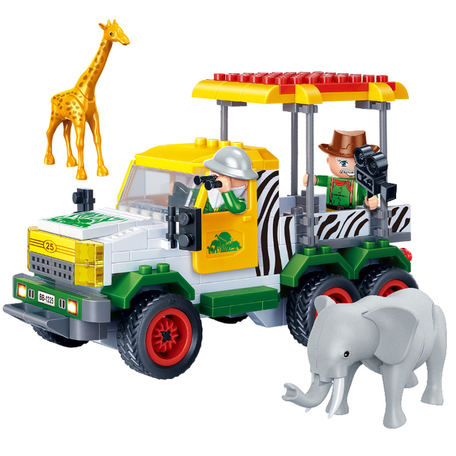 Zoo Patrol Car Blocks Set