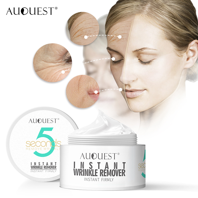 AuQuest 5 Seconds Wrinkle Remover Under Eye Bags Skin Lifting Anti Wrinkle Cream Face Cream Anti Aging Pre-makeup Primer Hot image