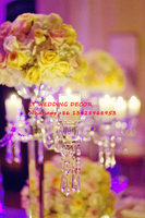 European classical crystal candlestick flower tall centerpiece candelabra for wedding decoration home party gifts essential