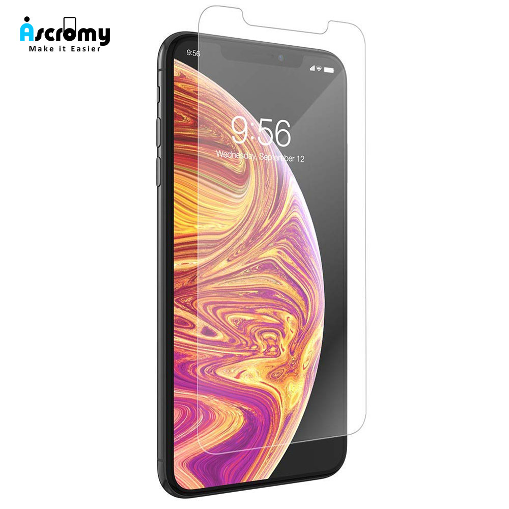 Ascromy For Apple iPhone XS Max Premium 9H Tempered Glass Screen Protector For iPhone X S XR 8 7 Plus 6 6S 8plus Protection Film (1)