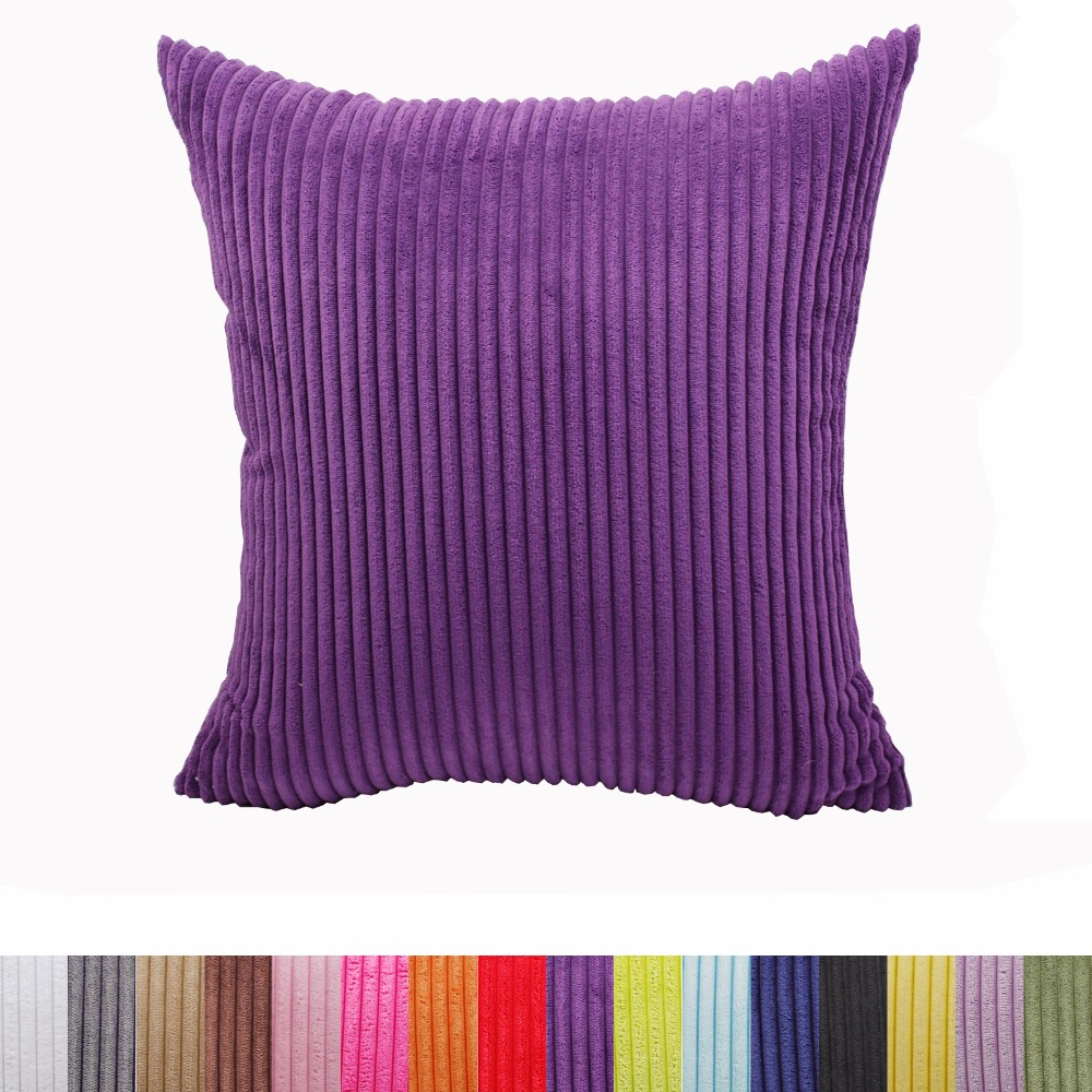 Striped Corduroy fabric sofa cushion cover,40x40cm/45x45cm/50x50cm/55x55cm/60x60cm/70x70cm size home decorative pillow cover
