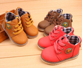 Tamaño 21-30 del otoño del resorte niños botas impermeables botas de moda antideslizante nieve de los muchachos y niñas zapatilla de deporte casual de piel de zapato
